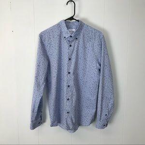 Peter werth mens blue casual shirt M